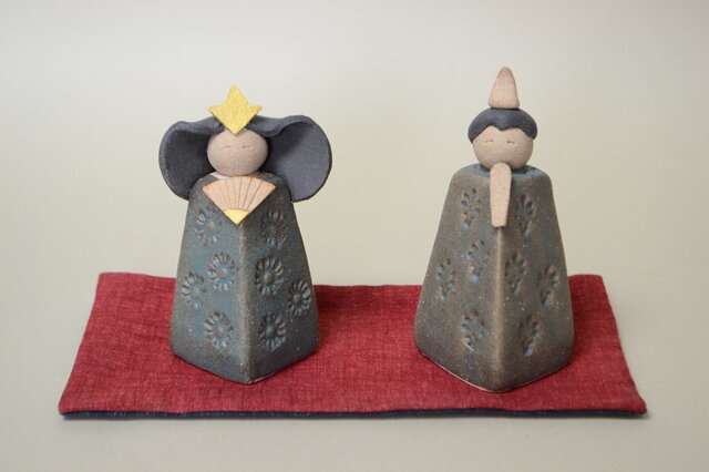 お雛様セット 陶器の画像1枚目