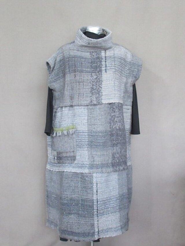 手織り ジャンバースカート  s18-54の画像1枚目