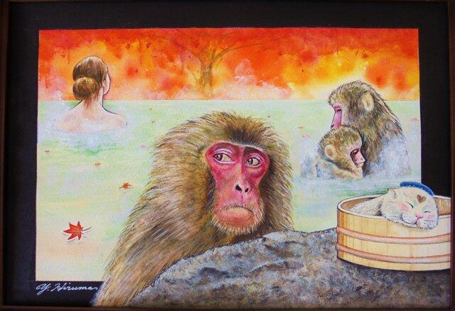 温泉ほっこりお猿さんの画像1枚目