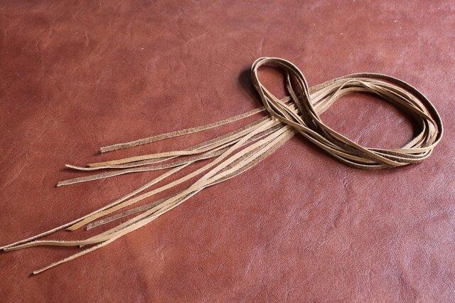 鹿革紐(ディアスキン)3mm幅×1M×5本 カラー(キャメル)の画像1枚目