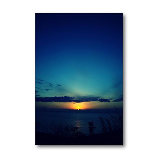 【写真のみ】Sunrise Blue【A4 送料無料 アートフォト】テキスト挿入のオーダー承りますの画像1枚目