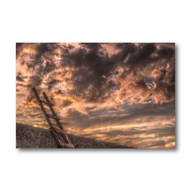 【写真のみ】夕焼けに見るは...【A4 送料無料 アートフォト】テキスト挿入のオーダー承りますの画像1枚目