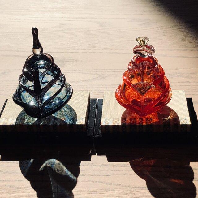 ガラスの雛人形 苺 (桃の節句)おひなさまの画像1枚目