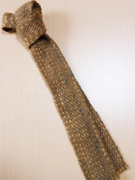 手織り ネクタイ NEC106A  シルクウール メンズ 茶系 プレゼント 個性的の画像1枚目