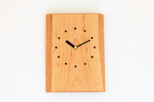 サクラの耳付き板の時計 7の画像1枚目