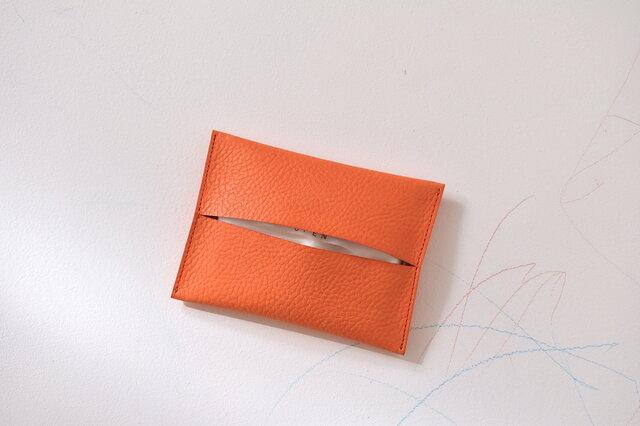 ポケットティッシュケース  [ヴェネーレ/orange]の画像1枚目