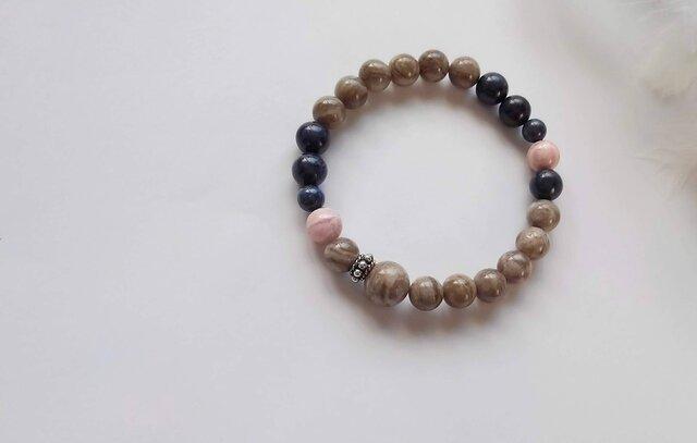 *natural - 3 color braceletの画像1枚目