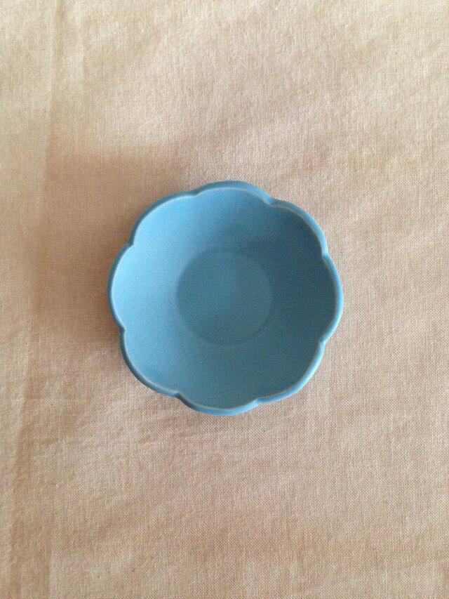 花小皿(トルコブルー)の画像1枚目