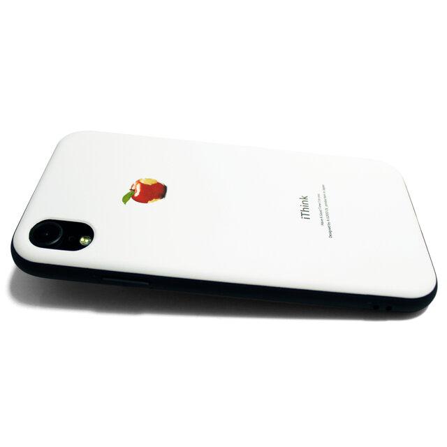 678314d6dd iphoneXRケース / iphoneXRカバー レザーケースカバー(オフホワイト)赤リンゴ XRの