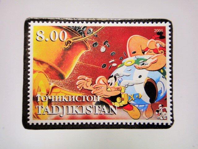 タジキスタン 切手ブローチ4656の画像1枚目