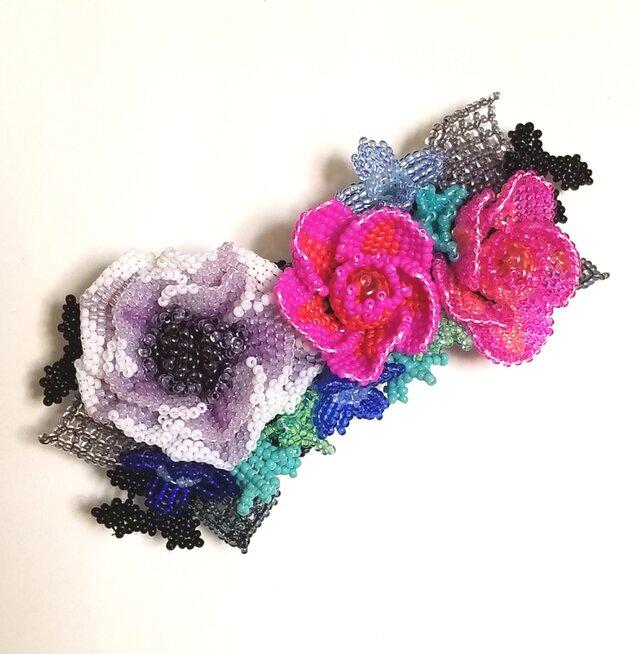 バレッタ Bouquet  (パープルペチュニア)の画像1枚目