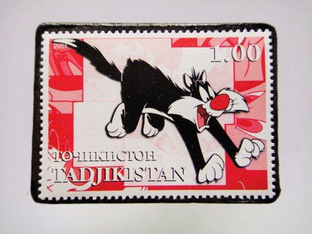 タジキスタン 切手ブローチ4658の画像1枚目
