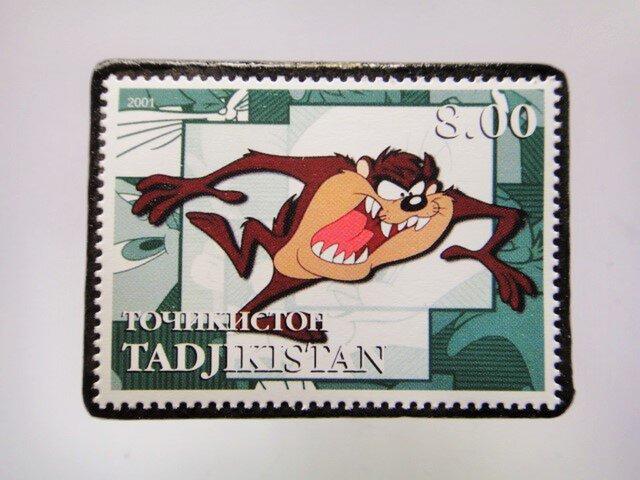タジキスタン 切手ブローチ4665の画像1枚目