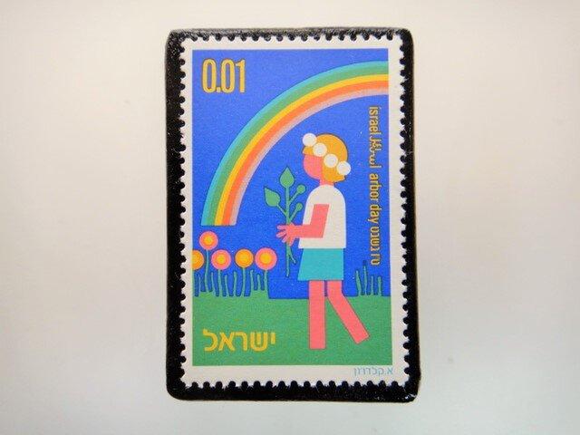 ユーゴスラビア 切手ブローチ4667の画像1枚目