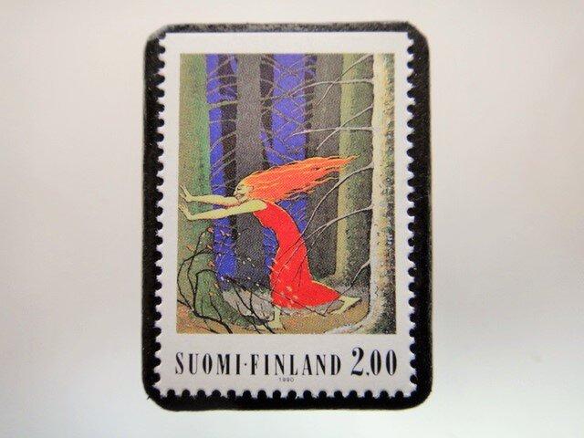 フィンランド 童話切手ブローチ4671の画像1枚目