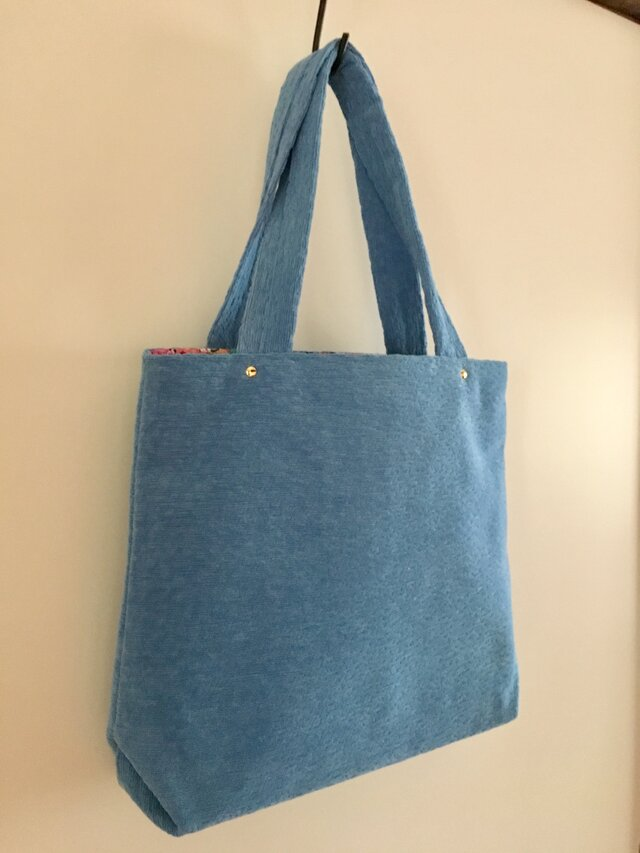 春bag:水色のお出かけトートの画像1枚目