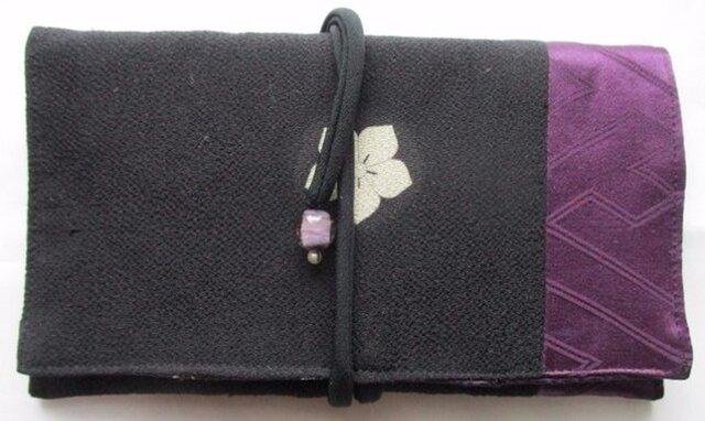 送料無料 留袖で作った和風財布・ポーチ 4039の画像1枚目