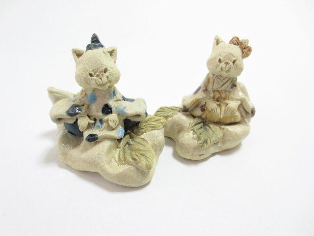 ねこ -くものり雛人形-の画像1枚目