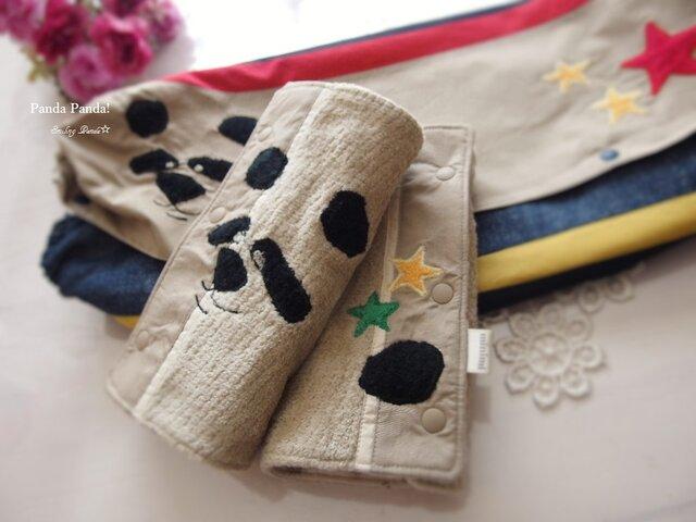 抱っこ紐収納カバー&よだれカバー Smiling Panda☆の画像1枚目