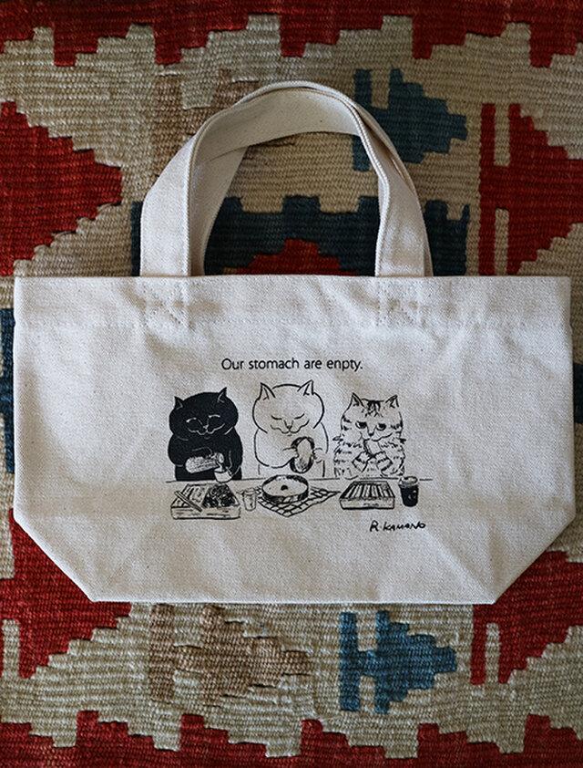 カマノレイコ オリジナルイラスト・ミニトートバッグの画像1枚目