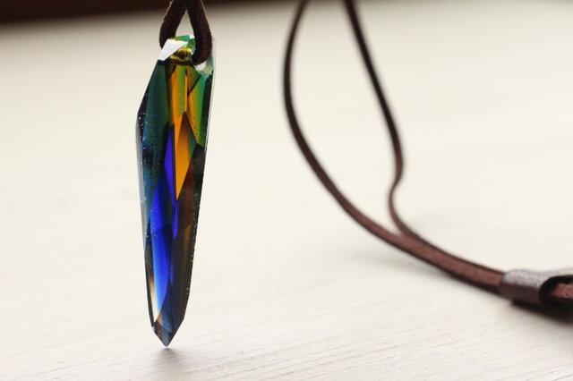 ガラス製 ペンダント The Earth Colorの画像1枚目