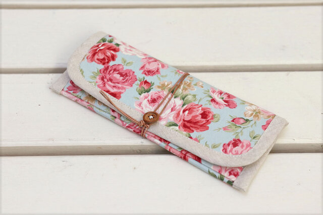 ぺたんこ長財布「Gran Rose」(b)の画像1枚目