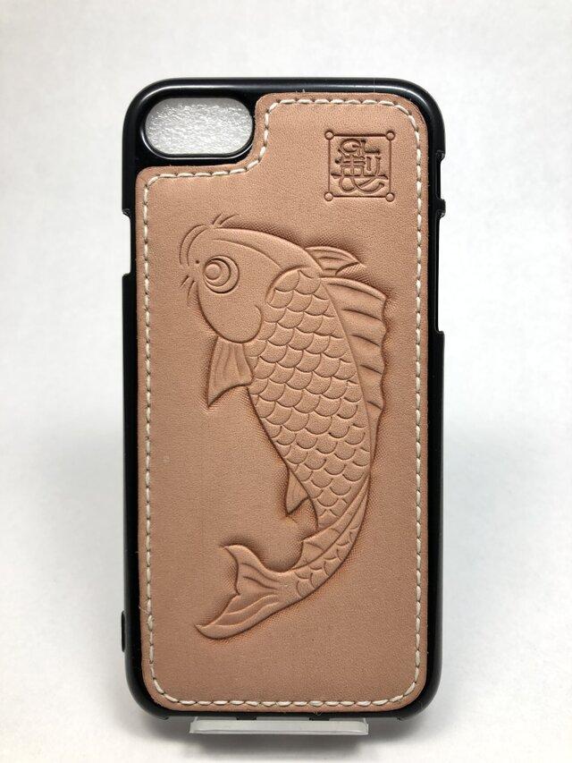 鯉の iPhoneレザーカバー(iPhone7・8対応)No.404の画像1枚目
