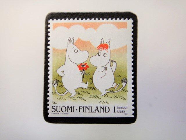 フィンランド 童話切手ブローチ4674の画像1枚目