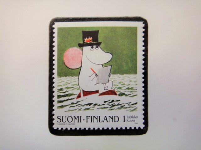フィンランド 童話切手ブローチ4675の画像1枚目