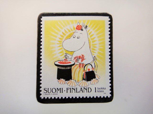 フィンランド 童話切手ブローチ4676の画像1枚目