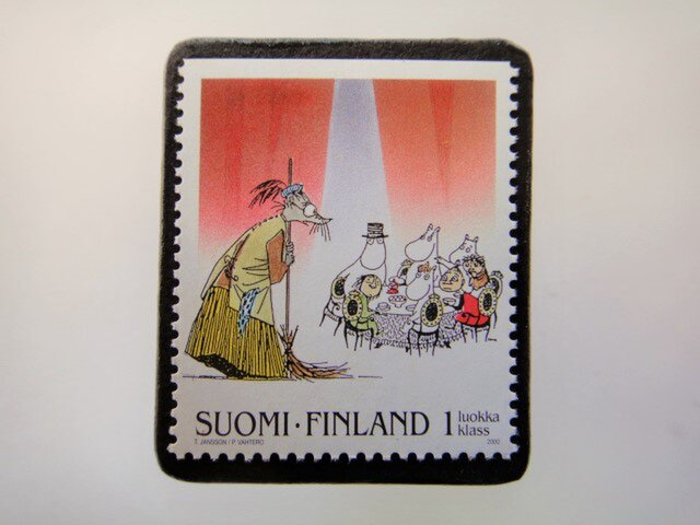フィンランド 童話切手ブローチ4679の画像1枚目