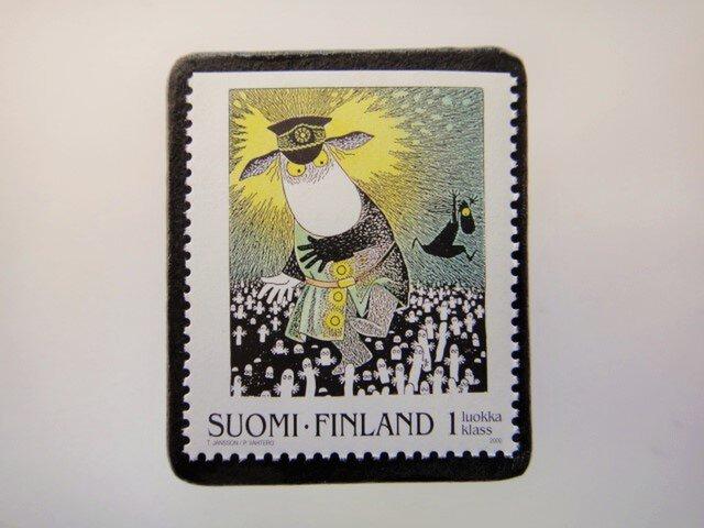 フィンランド 童話切手ブローチ4681の画像1枚目