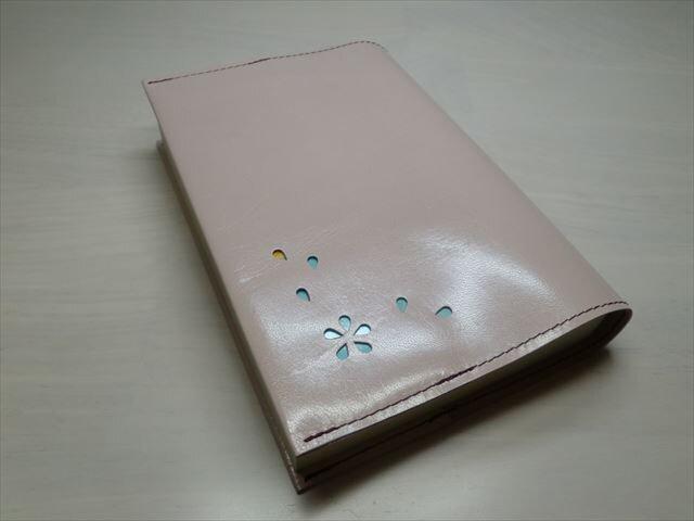 ゴートスキン・文庫本サイズ・「HANABIRA」シリーズ・一枚革のブックカバー0265の画像1枚目