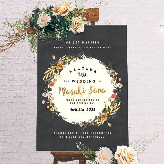 【Old Fashion】ウェルカムボード 結婚式 weddingの画像1枚目