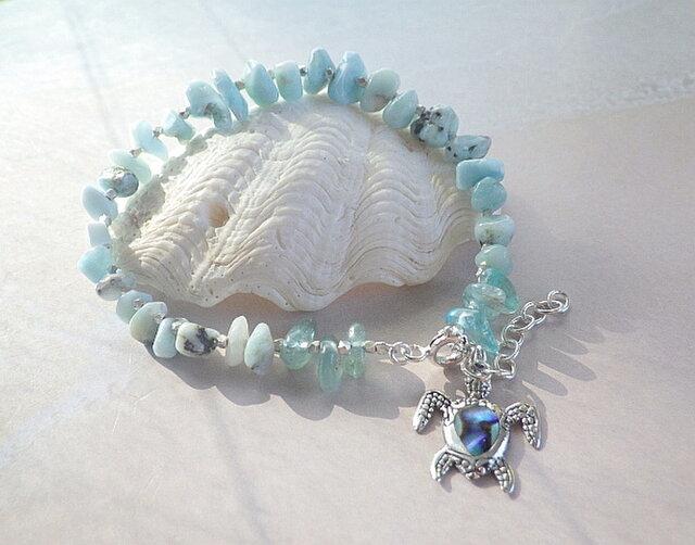 ocean healing bracelet ホヌ *sv925*の画像1枚目