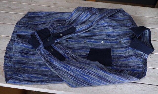 久留米絣メンズシャツの画像1枚目