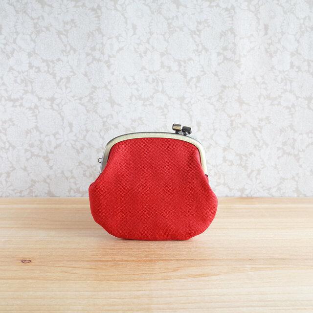 シンプル帆布のミニ財布がま口の画像1枚目