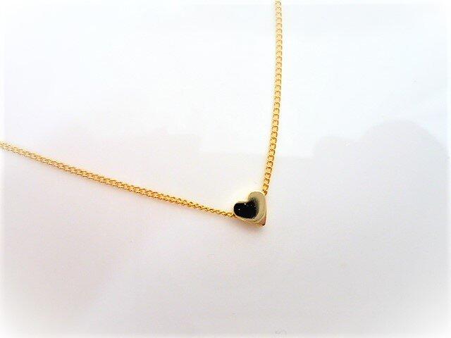 プチハートの上品で可愛いシンプルな1粒ネックレスの画像1枚目