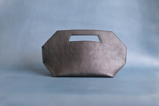 レザークラッチバッグ octagonの画像1枚目