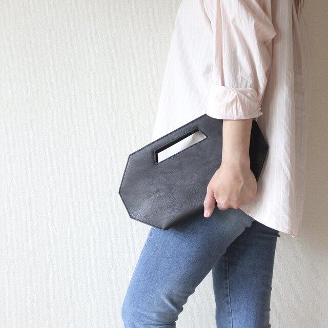 2wayバッグ 【8va clutch】 一枚革 総手縫い仕立の画像1枚目