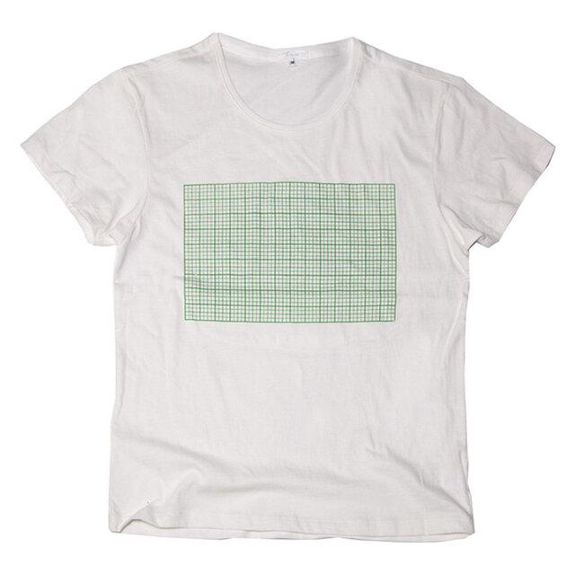 方眼紙おもしろTシャツ ユニセックスXS〜XLサイズ Tcollectorの画像1枚目