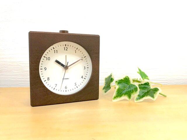 KATOMOKU alarm clock 5 ブラウン km-78B 連続秒針 目覚まし時計の画像1枚目
