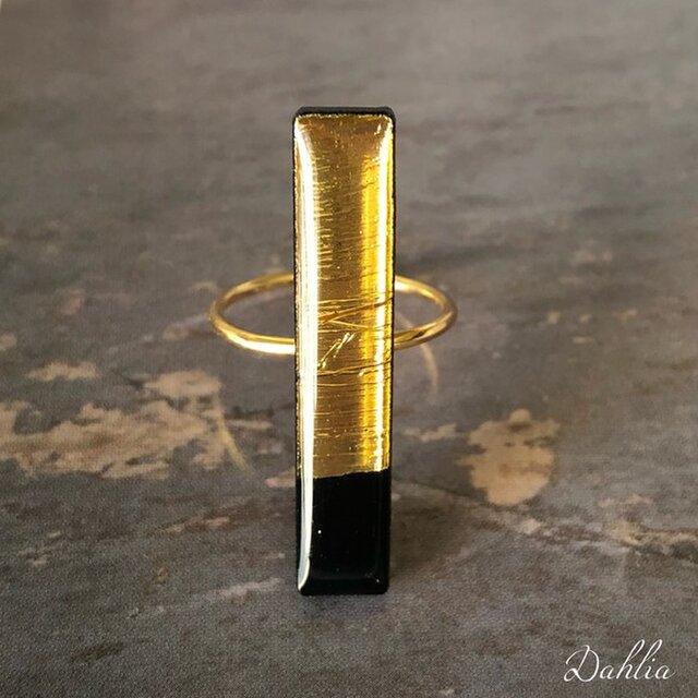レクタングルリング〜 bar in gold foilの画像1枚目
