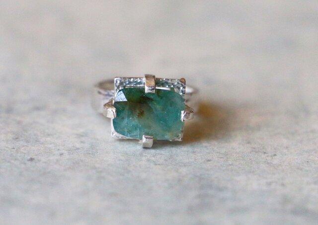 古代スタイル*グランディディエライト 指輪*8号 SVの画像1枚目