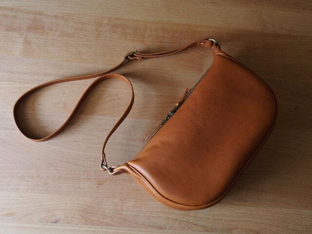 fastener shoulder bag(brandy) - ファスナーショルダーバッグ(ブランデー)の画像1枚目