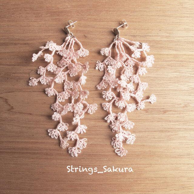 受注*Pierces,Flower strings_sakuraの画像1枚目
