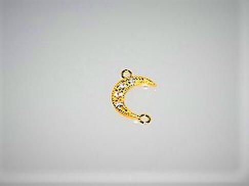 【アクセサリートップ】Moon丸環付き・ゴールドの画像1枚目