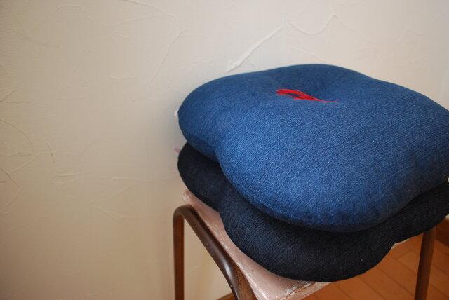 『DENIM』デニムザブトン(watojiya型)ブルーの画像1枚目