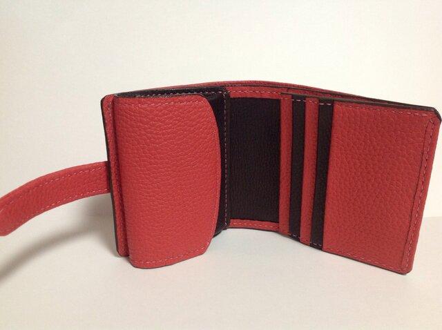 左利きの方のための二つ折財布 オーダーメイドの画像1枚目