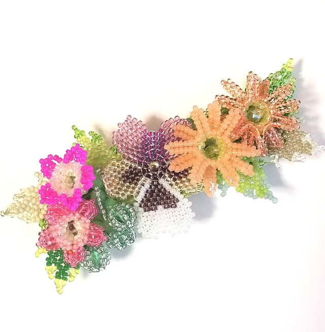 バレッタ Bouquet  (パンジー パープル)の画像1枚目